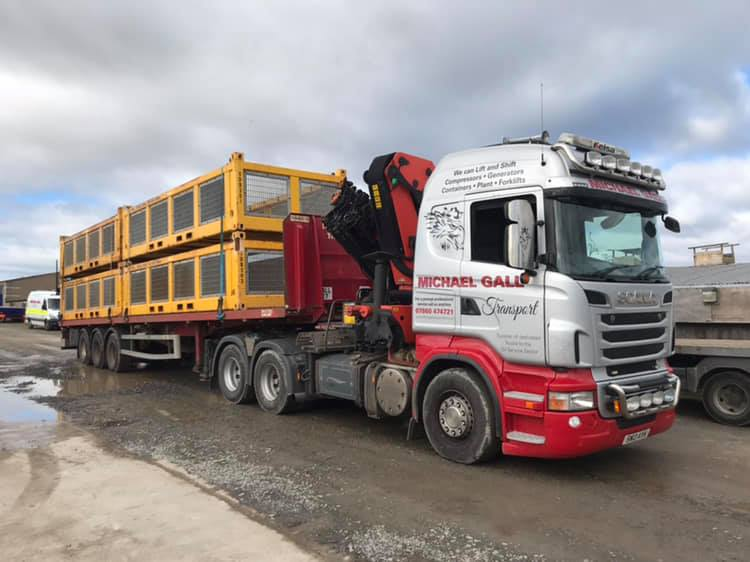 Michael Gall Transport lorry carrying containers