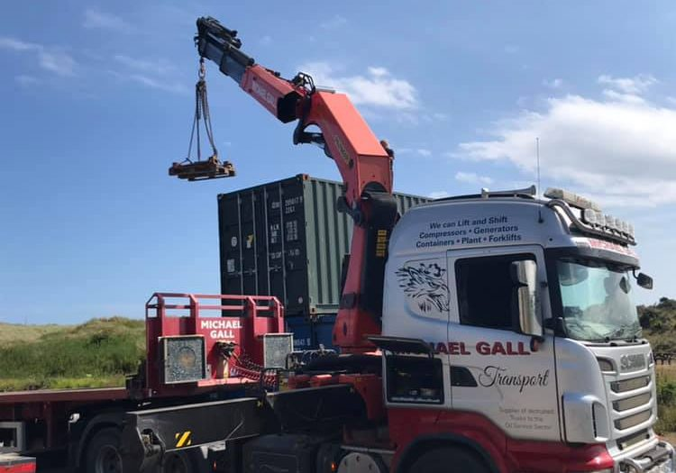 Michael Gall Transport lorry lifting containers