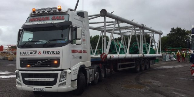 Michael Gall transport lorry carrying supplies